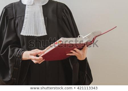 lecture · verdict · Homme · juge · marteau - photo stock © broker