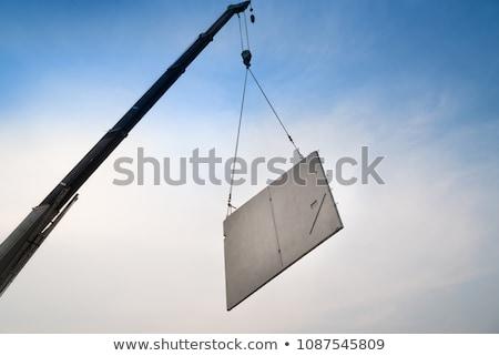 guindaste · quadro · casa · céu · edifício - foto stock © photography33