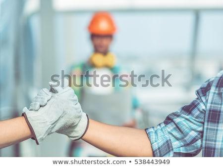 Architekta pracy strony budowy garnitur młodych Zdjęcia stock © photography33