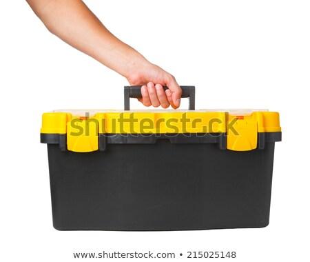 Mechanic holding tool-box Stock photo © photography33