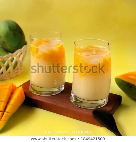 Fraîches tropicales orange yaourt secouer dessert Photo stock © juniart
