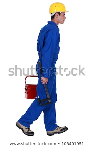 A young tradesman going off to work Stock photo © photography33