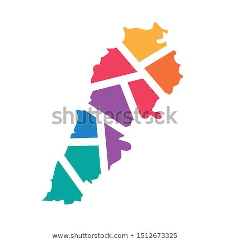 地図 · フラグ · レバノン · ビジネス · 道路 · 白 - ストックフォト © perysty