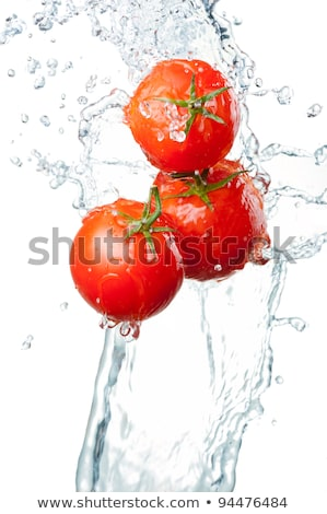 fresh tomatoes with pouring water Stock photo © ozaiachin
