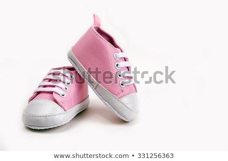 Różowy biały dziewczyna urodziny buty Zdjęcia stock © jirkaejc