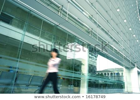 эскалатор · синий · бизнеса · здании · аннотация · технологий - Сток-фото © yuliang11