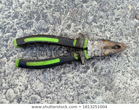 Old pliers and wire cutter element Stock photo © marekusz