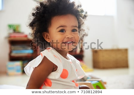 Happy baby toddler smiling Stock photo © phakimata