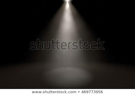 bevinding · feiten · spotlight · heldere · Rood · donkere - stockfoto © 3mc