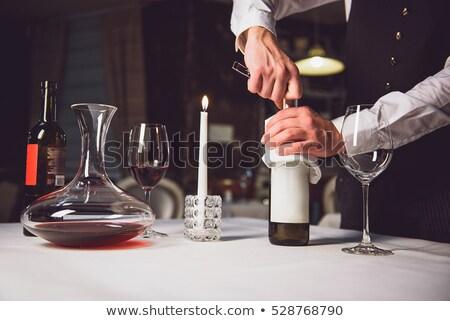 Adam açılış şişe detay çalışmak Stok fotoğraf © pedromonteiro
