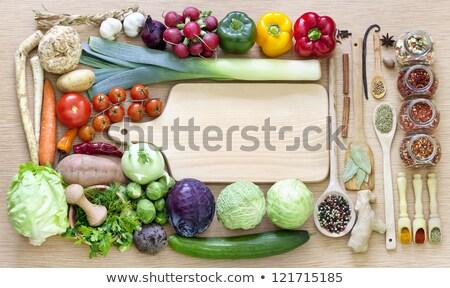 świeże · organiczny · warzyw · biurko - zdjęcia stock © zhukow