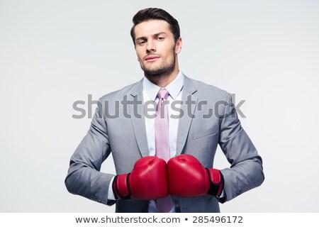 boxing businessman Stock photo © elwynn