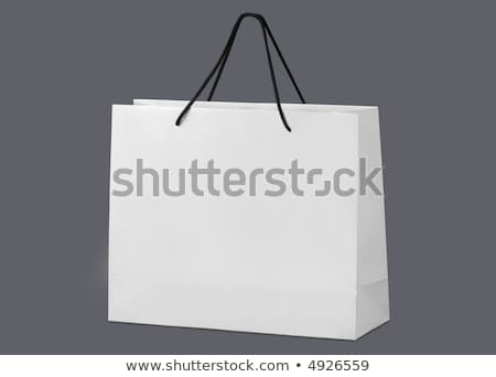 White beamless paper-bag with cords. Stock photo © shutswis