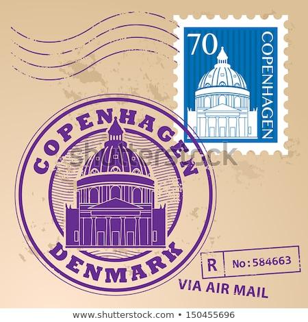 Danish post stamp Stock photo © Taigi