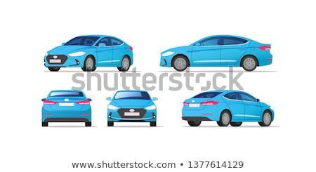 Mavi araba sedan yol spor model Stok fotoğraf © leonido
