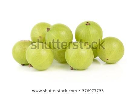 gooseberries on white background stock photo © len44ik