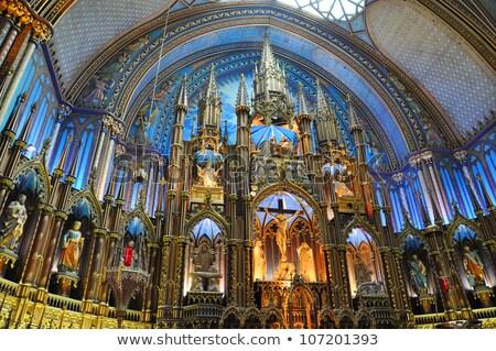 Catedral de Notre Dame Montreal velho gótico renascimento estilo Foto stock © aladin66
