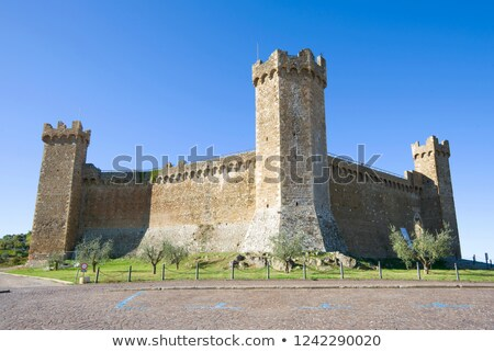 Defensive Tower in the Castle of Montalcino, Tuscany Stock photo © anshar