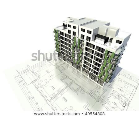 Architecture model Building showing structure Stock photo © pxhidalgo