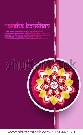 Fantastic Raksha Bandhan celebration colorful background vector Stock photo © bharat