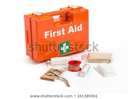 elsősegély · készlet · öntet · anyag · orvosi · gyógyszer - stock fotó © Zerbor