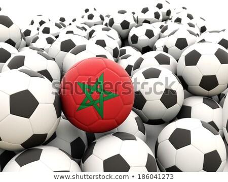 Vlag Marokko voetbal team land Stockfoto © MikhailMishchenko