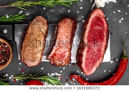 Beefsteak well done Stock photo © hanusst