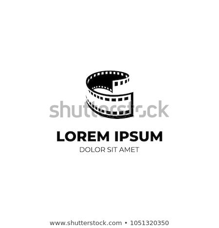 Bande de film logo film écran vidéo noir Photo stock © shawlinmohd