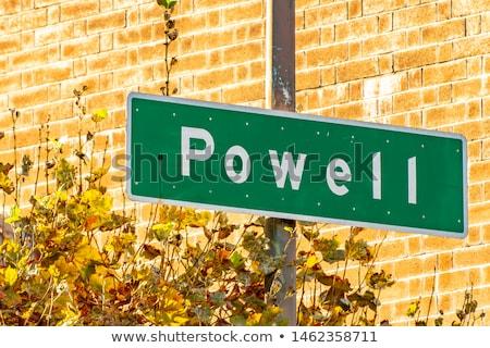 Straat teken beroemd groene straat San Francisco verkeersbord Stockfoto © meinzahn