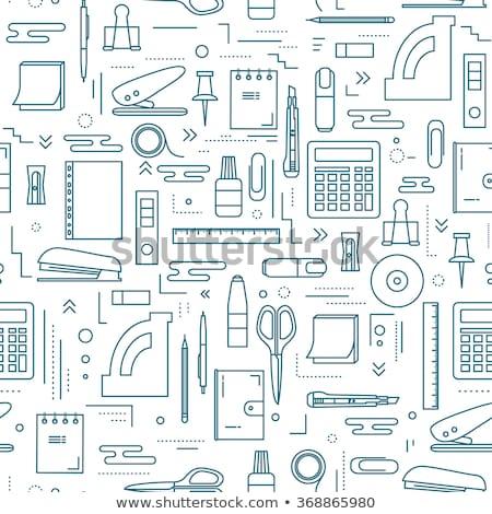 Zestaw biuro materiały biurowe kolor Zdjęcia stock © elenapro