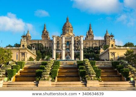 Tourists at the MNAC in Barcelona Stock photo © photosil