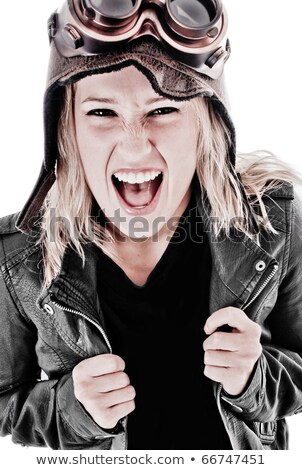 Steam punk girl screaming. Stock photo © Nejron
