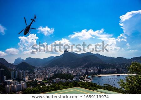 ストックフォト: キリスト · 有名な · 像 · リオデジャネイロ · ブラジル · 空