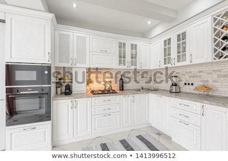lege · keuken · appartement · kamer · moderne - stockfoto © tiero