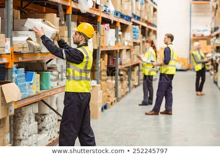 warehouse and manual worker Stock photo © tiero