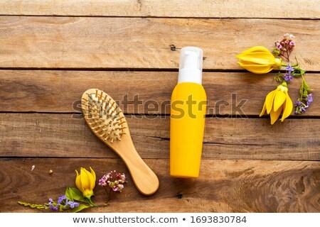 Kamm Haar Produkte Rahmen farbenreich unterschiedlich Stock foto © zhekos