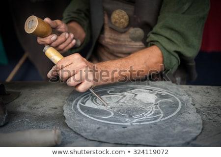 Artisan carved slate. Stock photo © asturianu
