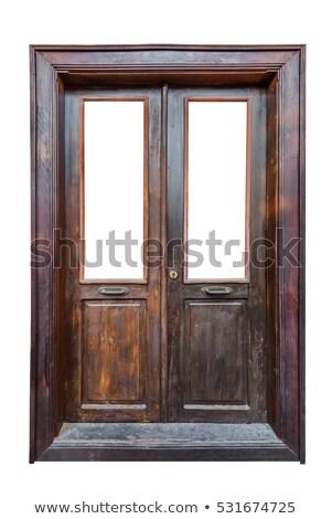 Weathered Wooden Double Door stock photo © kimmit