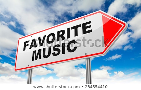 Favoriet lied Rood verkeersbord opschrift hemel Stockfoto © tashatuvango