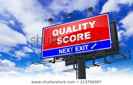 Calidad puntuación rojo cartel cielo negocios Foto stock © tashatuvango