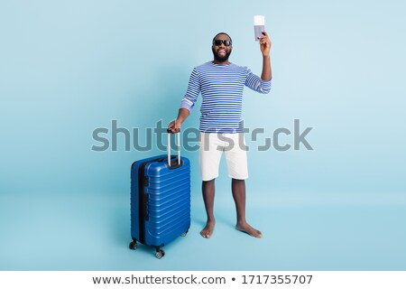 面白い 男 荷物 白 ビジネスマン 旅行 ストックフォト © Elnur