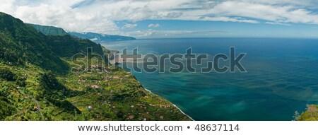 Portugália észak part felhők szépség óceán Stock fotó © haraldmuc