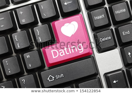 Dating Service Button on Computer Keyboard. Stock photo © tashatuvango