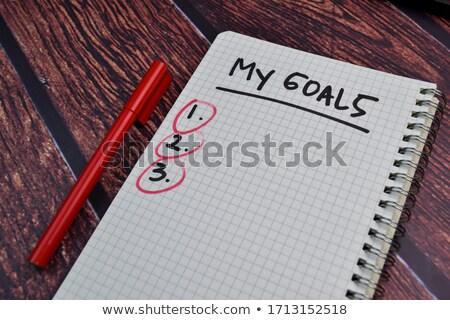 my personal goals stock photo © flipfine