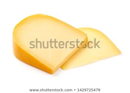 Gouda cheese isolated on whte Stock photo © Hofmeester