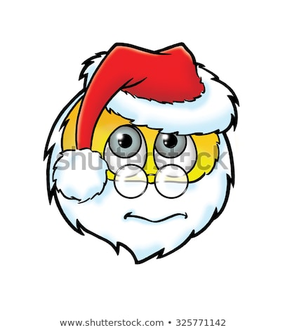 Cute frightened  Santa Claus smiley stock photo © Norberthos