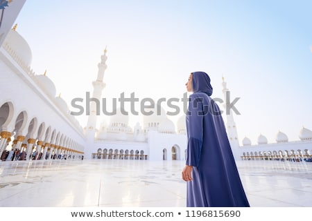 Columns In the Sheikh Zayed Grand Mosque Stock photo © vwalakte
