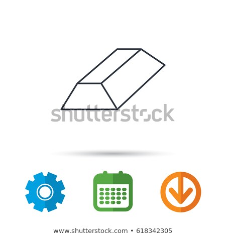 Gold bars and gears illustration design Stock photo © alexmillos