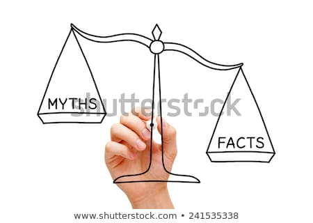 Facts Myths Scale Concept Stock photo © ivelin