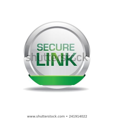 Secure Link Glossy Shiny Circular Vector Button Stock photo © rizwanali3d